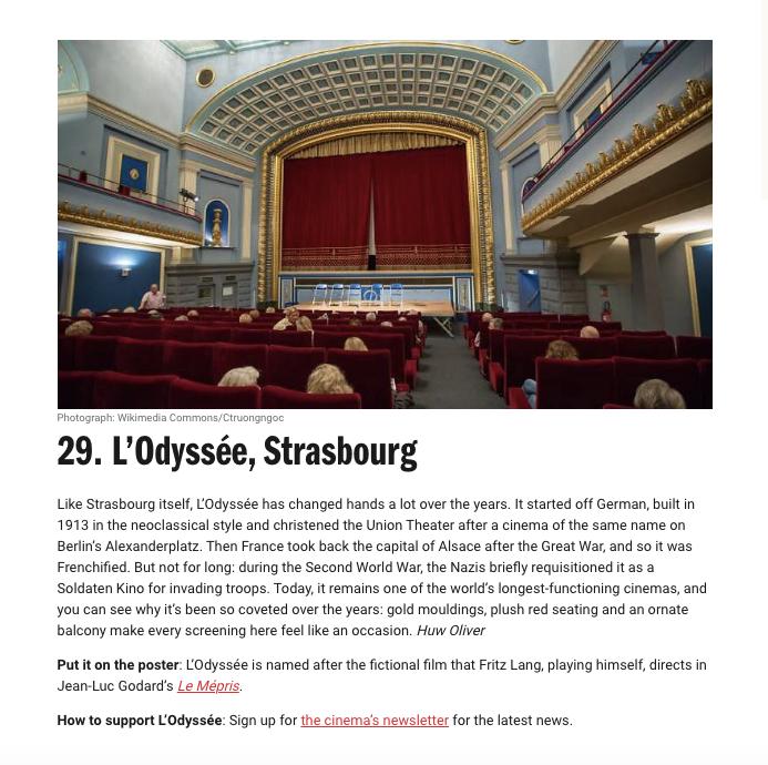Cinéma Odyssée top 50